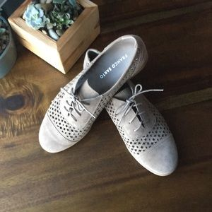 Tan Perforated Oxfords